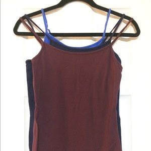 Set of 3 Time and Tru Spaghetti Strap Tank Tops XS